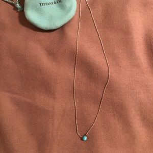 Tiffany & Co. Jewelry - Tiff and Co. necklace sterling silver w/ turquoise